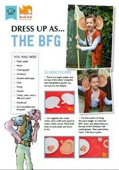 Roald Dahl BFG costume kit for world book day or book week.
