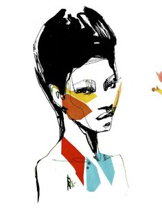 Fashion Illustration Ideas Cut paper illustrations by Stina Persson - Mixed-media work by Stina Persson. The Stockholm, Sweden based illustrator collages cut-paper on top of watercolor and inks. See more of Persson's work on her website. Fashion Illustration Face, Cut Paper Illustration, Illustration Mode, Portrait Illustration, Illustrations, Stina Persson, Silhouette Mode, Collage Design, Brainstorm