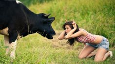 Funny Hot Cow-Girl