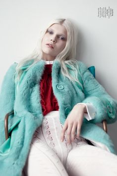 AnOther Magazine SS 2014 Ola Rudnicka Photographed by Willy VanderperreS tyling by Olivier Rizzo Hair by Anthony Turner