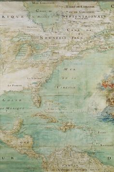 Pastel vintage map of Eastern North America, a portion of Central and northernmost South America.