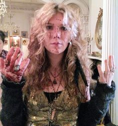 Lily Rabe behind the scenes of American Horror Story: Coven, playing Misty Day <3