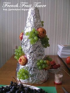 how to make fruit tower for french wedding