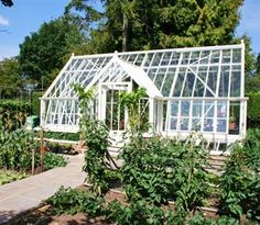 White aluminium greenhouse