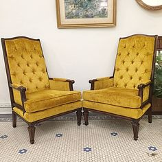 Feelin' Golden Like I Did As A Kid At My Aunt Mildred's On Thanksgiving! 🍁💛🍂 #Vintage #MidCentury #Bohemian #Tufted # Golden #ThroneChairs -Click On Link For All Info Mid Century Modern Furniture, Aunt, Mid-century Modern, Armchair, Thanksgiving, Bohemian, Kid, Vintage, Inspiration