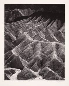 Zabriskie Point, Death Valley National Monument, California, from Portfolio Two: The National Parks and Monuments