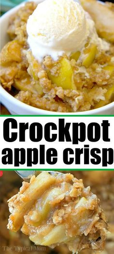 apple crisp pie is amazing! It tastes like the warm apple pie - Crockpot apple crisp pie is amazing! It tastes like the warm apple pie filling without the crust and cooked in your slow cooker, easy!- Crockpot apple crisp pie is amazing! It tastes li. Best Apple Crisp Recipe, Apple Crisp Pie, Apple Crisp Easy, Apple Crisp Recipes, Apple Cobbler, Apple Pies, Easy Apple Pie Filling, Cobbler Topping, Apple Crockpot Recipes