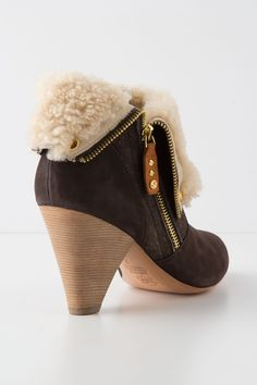 shearling bootie