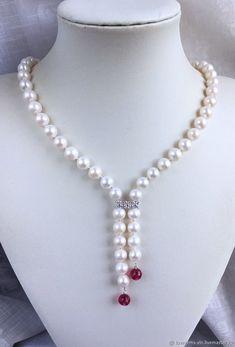 Bead Jewellery, Pearl Jewelry, Crystal Bead Necklace, Beaded Necklace, Handmade Necklaces, Handmade Jewelry, Necklace For Neckline, Jewelry Sets, Jewelry Making
