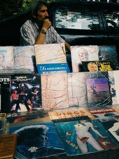 Vinyl seller at Dry