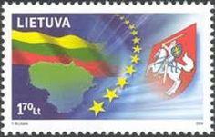 Resultado de imagem para lithuania stamps with flags