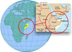 Chifre da África; Faz fronteiras com o Sudão e Uganda; É separado da Arábia Saudita, do Iêmen (e de Omã) pelo Mar Vermelho.