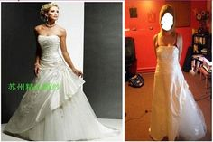 Beware the online discount wedding dresses: Angry brides share knock-off nightmares after buying gowns that looked stunning online but are HIDEOUS in real life. Popular Wedding Dresses, Disney Wedding Dresses, Bad Dresses, Prom Dresses, Formal Dresses, Jessica Parker, Designer Gowns, Brides And Bridesmaids, Looking Stunning