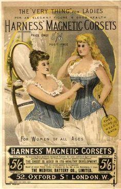 Magnetic corset ad