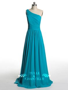 Dramatic Vintage Lace Bridesmaid Dress with Flowing Chiffon Skirt [TBQP227] - $169.00 : Custom Made Wedding, Prom, Evening Dresses Online | Tulle & Chantilly