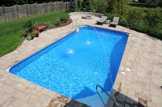 Gorgeous vinyl lined inground pool pictures built by the nation's Top 50 Builder, Chicago pool builder All Seasons Pools.