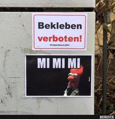 Bekleben verboten! | Lustige Bilder, Sprüche, Witze, echt lustig