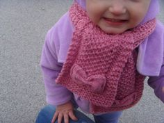 Scarf pattern, Knitting pattern Knit scarf patten for child and adult, Toddler pattern, Pattern for kids, Knit patterns, Scarf knit whit bow