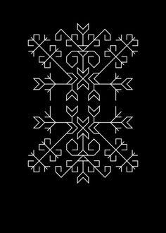 Geometric Tree of Life Art Print / Hedera