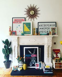 #fireplace #myhome #mystyle #colour #glasgow #tenement #midcentury Spare Room, Sweet Home, Gallery Wall, Mid Century, Lounge, Interiors, Colour, Living Room, Glasgow