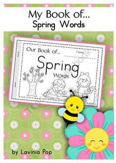 My Book of... Spring Words from LaviniaPop on TeachersNotebook.com -  (77 pages)  - My Book of... Spring Words