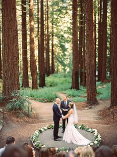 Intimate woodland Berkeley California wedding | Photo by Danielle Poff Photography | Read more - http://www.100layercake.com/blog/?p=79651 #outdoor #ceremony