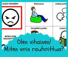 Tunnetaidot Teaching Emotions, Adhd, Mindfulness, Classroom, Organization, Education, Comics, School, Organize