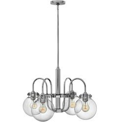 Congress Chandelier, available in Chrome, Brushed Carmel and Oil Rubbed Bronze | Rejuvenation