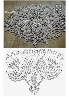 Crochet Doily Rug, Free Crochet Doily Patterns, Crochet Doily Diagram, Crochet Dollies, Christmas Crochet Patterns, Crochet Tablecloth, Crochet Books, Crochet Chart, Thread Crochet