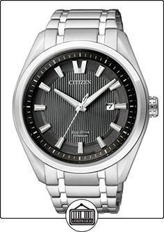 Citizen  AW1240-57E - Reloj de cuarzo para hombre, con correa de titanio, color plateado de  ✿ Relojes para hombre - (Gama media/alta) ✿