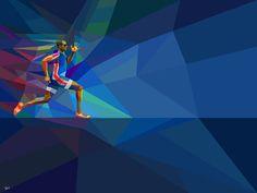 » Ilustraciones Geométricas de los Juegos Olímpicos de Londres 2012 por Charis Tsevis