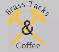 Brass Tacks & Coffee | Mercari Brass Tacks, Invite Your Friends, Beautiful Beaches, Coffee, Logos, Movie Posters, Kaffee, Logo, Film Poster