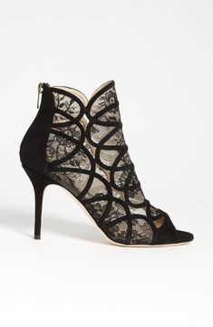 Buy your heels Jimmy Choo on Vestiaire Collective, the luxury consignment store online. Pre-owned Black Heels Jimmy Choo in Suede available. Hot Shoes, Women's Shoes, Me Too Shoes, Shoe Boots, Lace Shoes, Dream Shoes, Crazy Shoes, Pretty Shoes, Beautiful Shoes