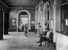 Casual everyday scene at the BKK Central Post Office/Telegraph Office, 1908 - TeakDoor.com - The Thailand Forum