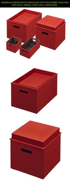 Rubbermaid 1812396 Bento Storage Box With Flex Dividers Value Pack With  Small, Medium, Large