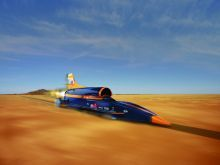 Hakskeen Pan, Northern Cape, South Africa is the test site for the fastest car on earth, the British-built Bloodhound SSC.