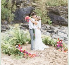 Hawaii wedding beach