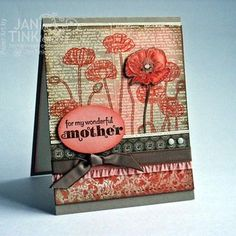 Janine Tinklenberg: Stamps, Paper, Scissors - Stampin' Up! Happy Watercolor Meets Pleasant Poppies - 4/14/14