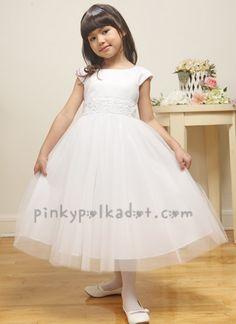 Flowergirls - white flowergirl dress with ballerina tutu skirt