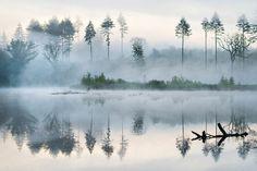 Morning at the lake by Leiph B