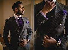 Groom's dapper style, beautiful winter wedding at The Grove, London