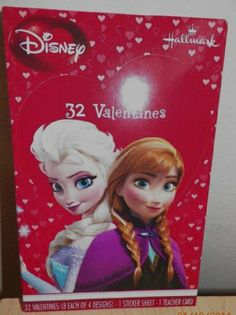 Disney's Frozen Anna & Elsa Valentine's Cards. For details or ordering click on the image!     (Need!!!!!!!)