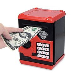 Elemusi Cartoon Electronic Password Mini ATM Piggy Bank Cash Coin Can Auto Scroll Paper Money Saving Box for Children Kids Birthday Gifts For Boys, Boy Birthday, Money Saving Box, Kids Toys For Boys, Savings Box, Money Bank, Coding For Kids, Christmas Gifts For Kids, Christmas 2019