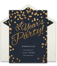 A collection of beautiful New Year's Eve email invitations. We love this design for a fancy NYE celebration. A digital template that's easy to personalize and send online. New Years Eve Invitations, Graduation Party Invitations, Online Invitations, Invitation Templates, Invites, New Years Eve Music, Grand Opening Invitations, Adult Birthday Party, Surprise Birthday