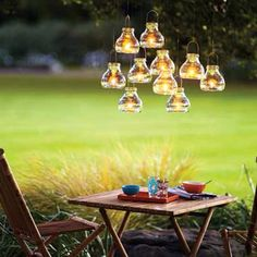 Cute late backyard picnic