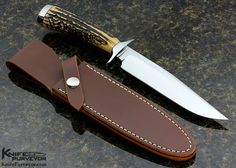 Chad Nell Custom Knife Stag Fighter - Chad Nell custom knife - image 1