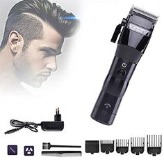 Electric Hair Clipper Cordless Styling Tools, Hair Trimmer Cutting Machine Haircut Trimming, Powerful Rechargeable Pr... Triathlon Women, Triathlon Wetsuit, Shaved Hair, Professional Hairstyles, Styling Tools, Brush Cleaner, Hair Removal, Hairdresser, Shaving