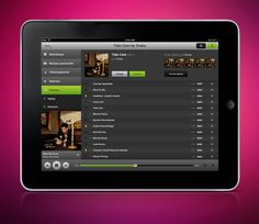 "Spotify's CEO says an iPad app is ""in the works"" - I wonder if it'll look anything like this mockup?"