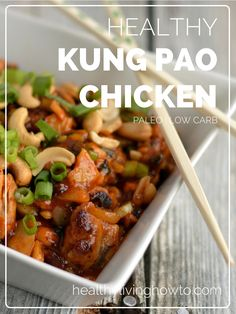 Healthy pf changs style Kung Pao Chicken | healthylivinghowto.com