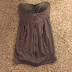 Army green strapless dress Army green strapless dress. Built in padding/bra. Size medium but I would say it fits like a small Wet Seal Dresses